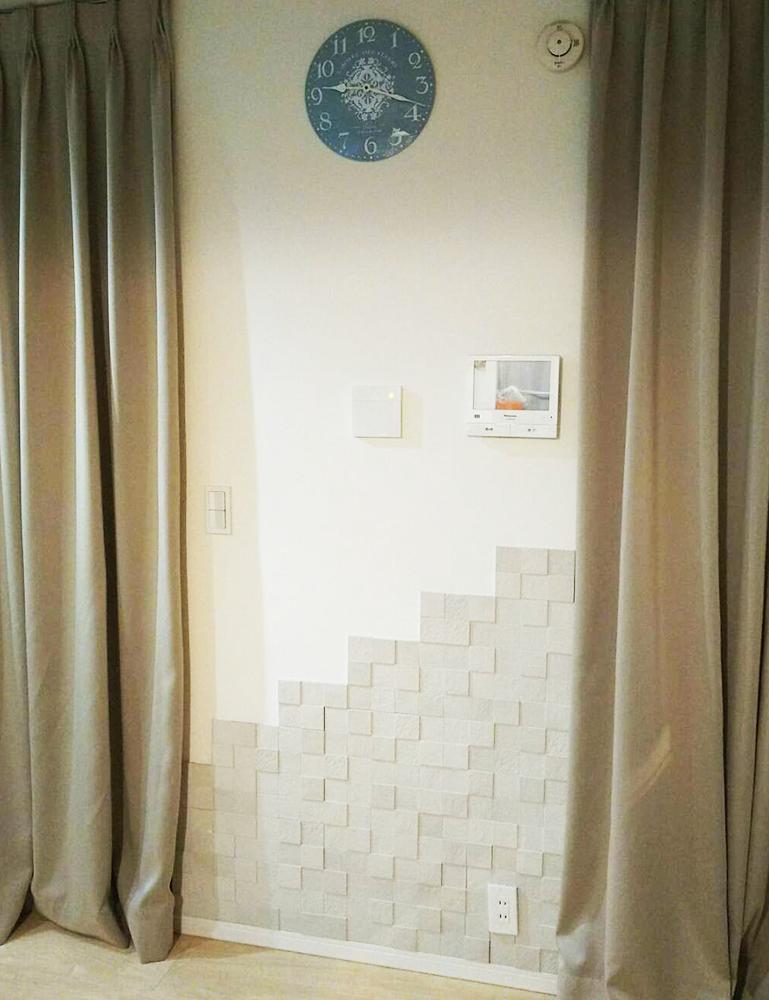 リビング壁 エコカラットタイル