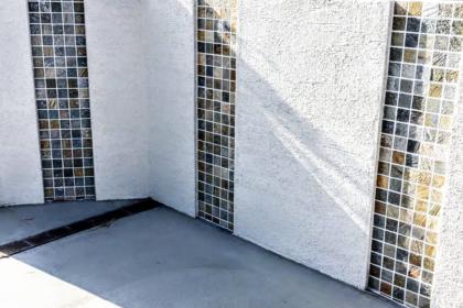 門塀 石モザイクタイル